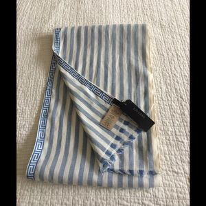 NWT Versace linen mix striped scarf